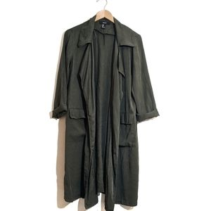 Forever 21 Utility Open Front Lightweight Coat